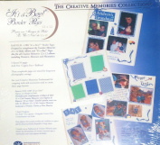 "Creative Memories 30cm x 30cm Scrapbook Page Refills White ""It's A Boy"" Border Pages [5 sheets/10 pages in Package] 1999"