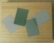 Background Template of Four Wood Mounted Rubber Stamp