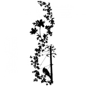 Magenta Cling Stamps - Bird On A Wire
