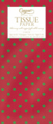 Entertaining with Caspari Tissue Paper, Dots Red/Green, 4-Sheets