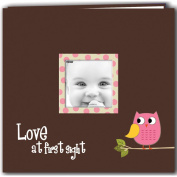 Baby Owl Printed Design Post Bound Scrapbook Album 30cm x 30cm -Pink