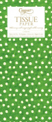 Entertaining with Caspari Tissue Paper, Small Dots Green, 4-Sheets