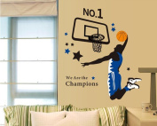 Dunk Basketball No.1 Wall Sticker Decal Home Decor for Boys Bed Living Room Study Nursery