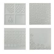 Fiskars 100870-1001 Square Design Plate Expansion Pack, Medium, 4-Pack