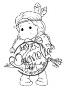 Once Upon A Time Cling Stamp 14cm x 9.5cm Package-Indian Tilda