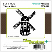 Die-Versions Whispers Die-Windmill, 7.9cm x 9cm