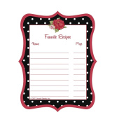 C.R. Gibson Jessie Steele Cookbook Stickers, Dotted Cottage Rose