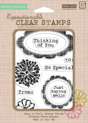 Hero Arts Rubber Stamps Sweet Threads Labels Clear Stamp Set