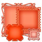 Spellbinders S4-414 Nestabilities Captivating Squares Die Templates