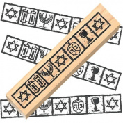 Ruth's Jewish Stamps Wood Mounted Rubber Stamp - Jewish Border
