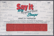 SAY IT with Typewriter Stamps Rubber Stamp Set