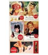 Coke Coca Cola Classic Ad Scrapbook Stickers