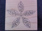 Starfish Flower Rubber Stamp