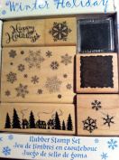 Winter Holiday Rubber Stamp Set