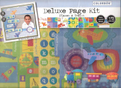 Deluxe Page, Planes and Trains Scrapbooking Kit