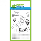 Lucky Lilypad Clear Stamps, Gnome Home, 10cm by 15cm