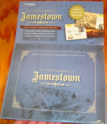 Jamestown stamp folio including sheet of stamps