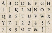 Hero Arts Woodblock Stamp Set, Printer.s Type Alphabet