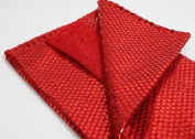 Bright Red Stretch Knit Fabric with Tiny Sparkly Sequins - 5 Yard Bolt