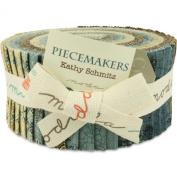 Moda Piecemakers Jelly Roll, Set of 40 2.5x44-inch (6.4x112cm) Precut Cotton Fabric Strips