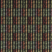 140cm Wide K0020B Red, Blue, Green and Black, Geometric Striped Contemporary Upholstery Fabric By The Yard