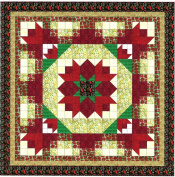 Easy Quilt Kit Christmas Poinsetta Nine Patch