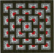 Easy Quilt Kit Boxed Maze!! Red, Black, White