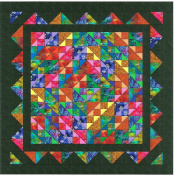 Easy Quilt Kit Brilliant Diamond Batiks
