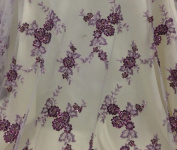 Lilac Mesh w/ Embroidery Sequins Hand Beaded Lace Fabric 130cm Wide 1 Yard