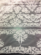 Offwhite Bridal Lace Corded Fabric 130cm Wide By the Yard