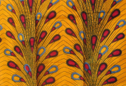 African Print- Ankara Fabric Clothing Designs - Vlisco Super Dutch Wax Material For Fashion, Dresses, Top, Skirt, Jewellery, Shoes, Bags, Head Wraps, Dashiki Shirt -Styles With Patterns Of Prints.  .  d. Peacock -6 Yards
