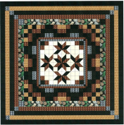 Easy Quilt Kit Nine Patch Star Lily Nuetral/Queen