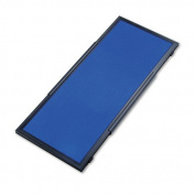 Quartet Display System Optional Header Panel, Fabric, 24 x 10, Blue/Grey/Black PVC Frame