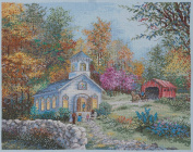 Bucilla Heirloom Counted Cross Stitch Kit, 48cm by 39cm , Worship In The Country