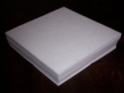 Self-adhesive Sticky Tear-Away Embroidery Stabiliser Backing - 50 Precut Sheets - 15cm x 15cm