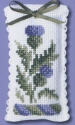Textile Heritage Lavender Sachet Counted Cross Stitch Kit - Victorian Thistles