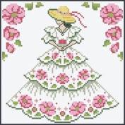 Herrschners Southern Belle Quilt Blocks Stamped Cross-Stitch Kit