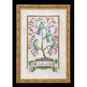Four Calling Birds Cross Stitch Pattern