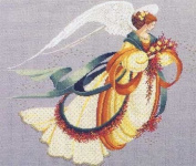 ANGEL OF AUTUMN COUNTED CROSS STITCH CHART