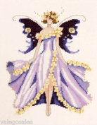 Cherry Blossom Counted Cross Stitch Chart Spring Garden Party Collection for Pixie Couture By Nora Corbett