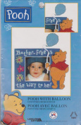 Pooh with Balloon Magnet Picture Frame Counted Cross Stitch Kit