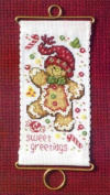 Sweet Greetings Gingerbread - Cross Stitch Kit