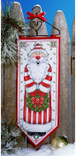 Design Works Counted Cross Stitch Kit - Santa Banner
