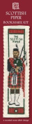 Highland Piper and Bagpipes Bookmark Cross Stitch Kit