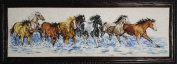 Design works crafts splashdown horses counted cross stitch