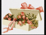 Box Rose Buds Needlepoint Canvas
