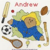 Bothy Threads Paddington Bear Sports Sampler Cross Stitch Kit