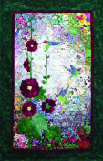Whims Watercolour Quilt Kits Hummingbirds and Hollyhocks Quilting Supplies