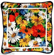 Candamar Designs 30795 Daisies and Poppies Needle Point Kit, 36cm by 36cm
