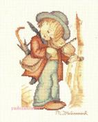 The Little Fiddler, - Hummel Cross Stitch Kit